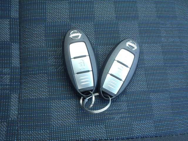 インテリジェントキーです。 カバンや上着のポケットなどにキーを入れたままでカギの開錠と施錠が可能です