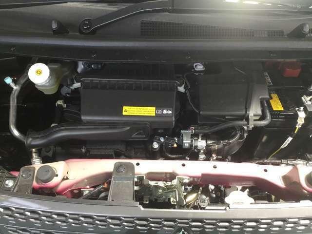 トルクフルで低燃費なエンジン、モーターでエンジンをアシストするHYBRIDシステム搭載!