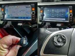 メーカー純正のフルセグメモリーナビつき!ステアリングリモコン・USB・Bluetooth・ステアリングリモコン対応です