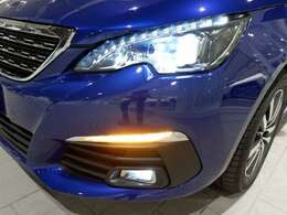 ヘッドライト、フォグライト共にLEDバルブを使用。