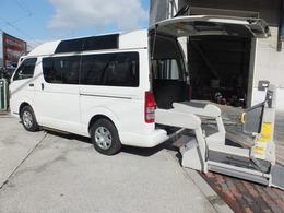 トヨタ ハイエースバン 2.0 ウェルキャブ Bタイプ ロング ルーフサイドウインドゥ付 純正キーレス 福祉車両 ウォークスルー