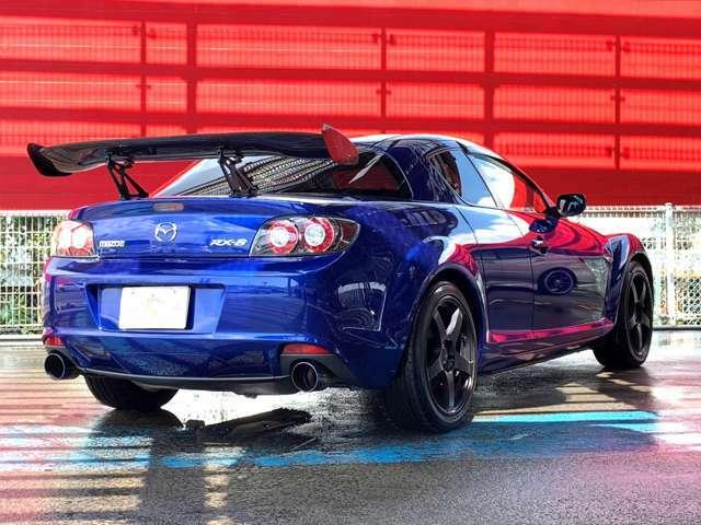 主要装備☆SSR18AW・BRLITZマフラー・GTウィング・TEIN車高調・ETC・RE雨宮サイドミラー・オートエグゼワイパーブレード・5MT・HIDヘッドライト