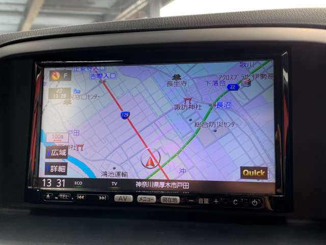 純正ナビがついています!TVやBluetoothなどに対応しています。初めての道でも安心してドライブできます。