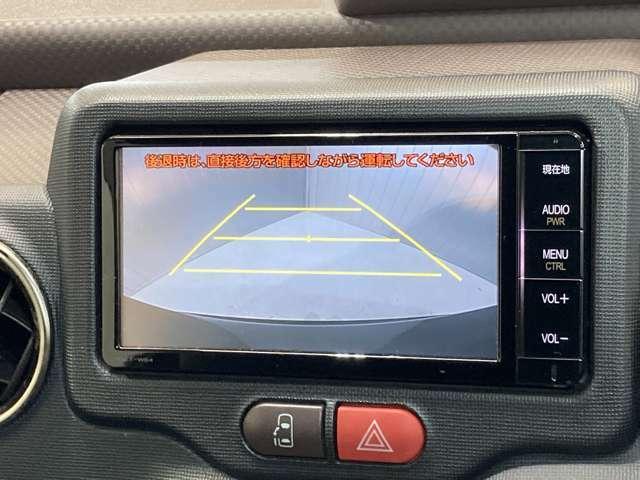 【バックモニター】駐車時に後ろの映像がナビゲーションにうつるので駐車がらくらく★車庫入れが心配な方もバックモニターで安心★