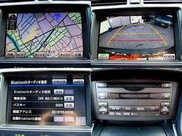 純正HDDナビを装備。Bluetooth機能、DVD再生、バックカメラと充実装備。