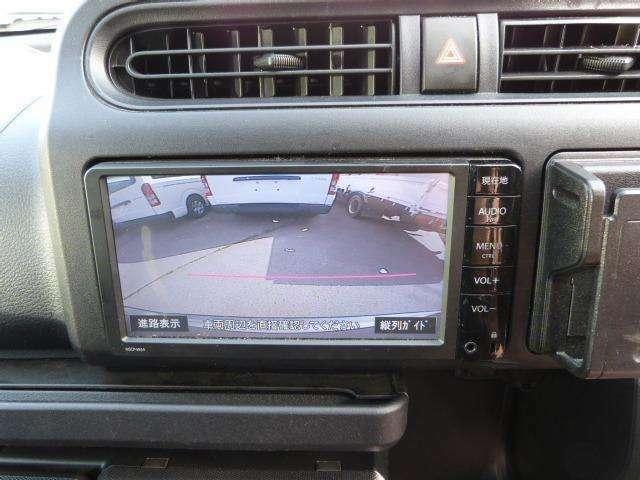 バックカメラ付き!車庫入れが苦手な方でも安心です。また、狭い所や暗い所でもよく映ります! ただし、やっぱり目視で確認する事も重要ですよ