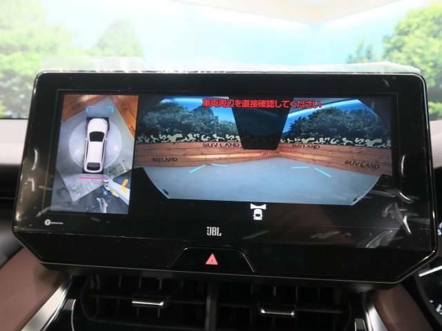 【パノラミックビューモニター】上から見た視点がモニターに映し出されるので、駐車や縦列駐車も簡単です♪