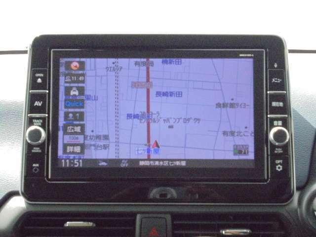 9インチの大画面で、地図やアラウンドビューモニターも大きく見えます。