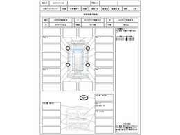 この車の鑑定証の評価点は5点評価の外装が5点、内装が4点です。なお日本自動車鑑定協会会員のJAAA鑑定書は車内にあります。