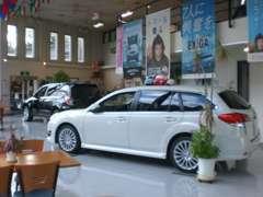 ショールーム内、新車展示車がずらり!屋外にも多数展示中です!