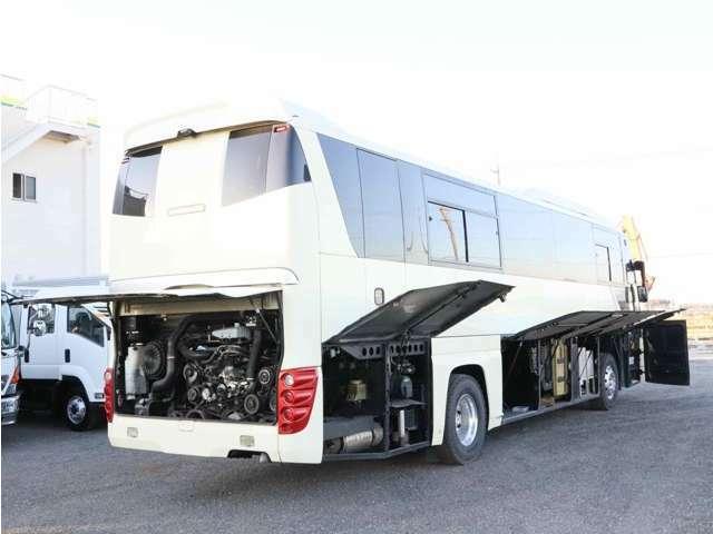 ◇スーパーハイデッカー/高馬力460ps/44人乗り/ガイド席/ペダル式回転サロン2列