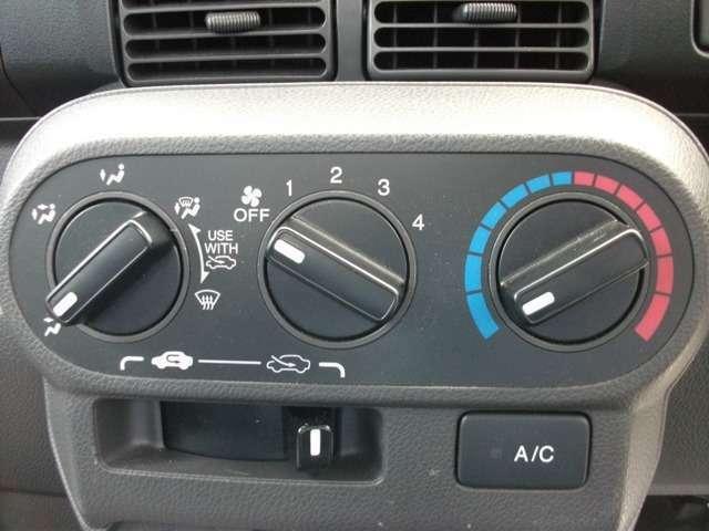 快適なエアコン機能付です。