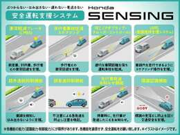★ホンダSENSING搭載車★ ミリ波レーダー+単眼カメラでドライバーを見守る安全システム!多彩な先進機能が、さまざまなシーンで安心・快適なドライブをサポートします☆