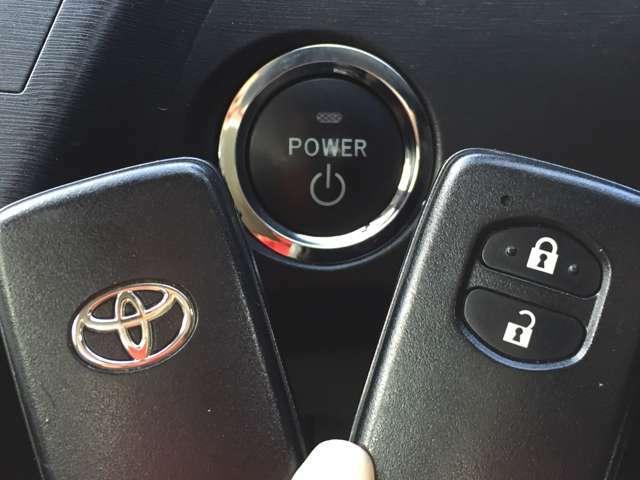 【スマートキー2本&プッシュスタート】 カギを出さなくてもドアロック&解除、エンジンスタート&ストップが出来ます♪