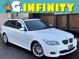 BMW 5シリーズツーリング 525i Mスポーツパッケージ 検 2年付/後期/SR/ナビ/Hレザ-/ETC/HID/AW