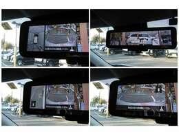 先進安全パッケージ付!ルームミラーにはアラウンドモニターが表示されます。