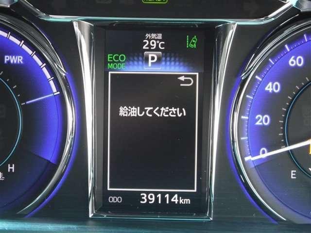 撮影時の走行距離は約3.9万kmです。安心のハイブリット保証付きです。
