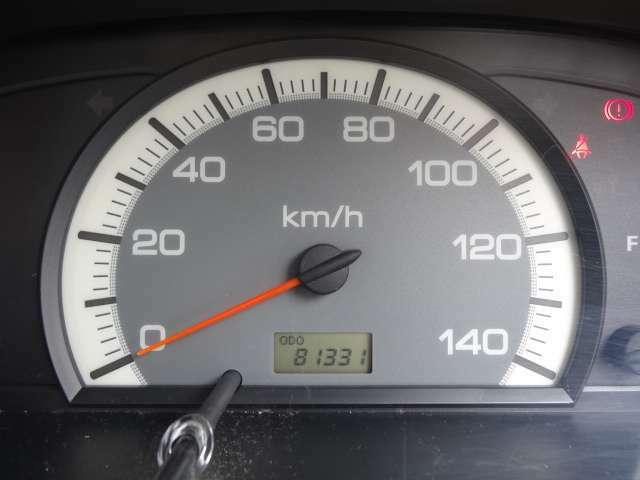 走行距離は、8万キロ台