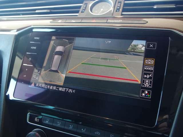 360°アラウンドビューモニター搭載。全方向の死角もばっちりカバーしてくれます。
