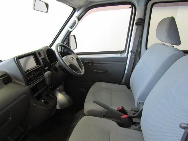 すっきりとしたフラットなフロアで助手席側からもラクラク乗り降りができます。ドアの開口部は大きく乗降グリップもあります。