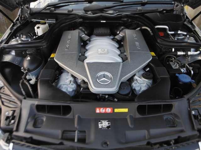 V型8気筒DOHC・出力487ps(336kW)/6800rpm・トルク61.2kg・m(600N・m)/5000rpm(カタログ値)