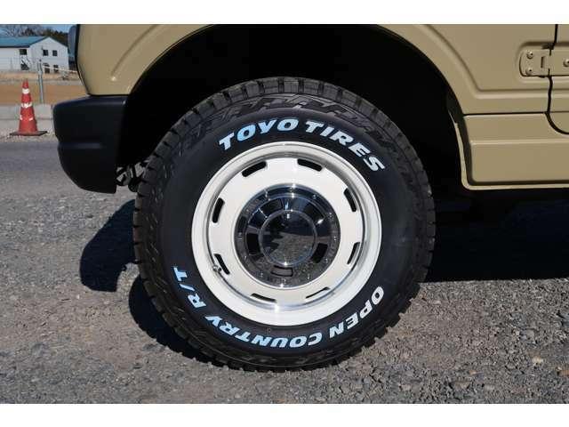 おしゃれなタイヤ・ホイールもぜひご覧ください^^オフロード性能とオンロード性能を両立するタイヤですのでお勧めです♪