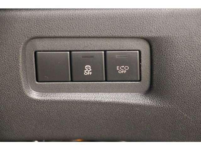 レーンキープとECOドライブの切り替えスイッチがあります。