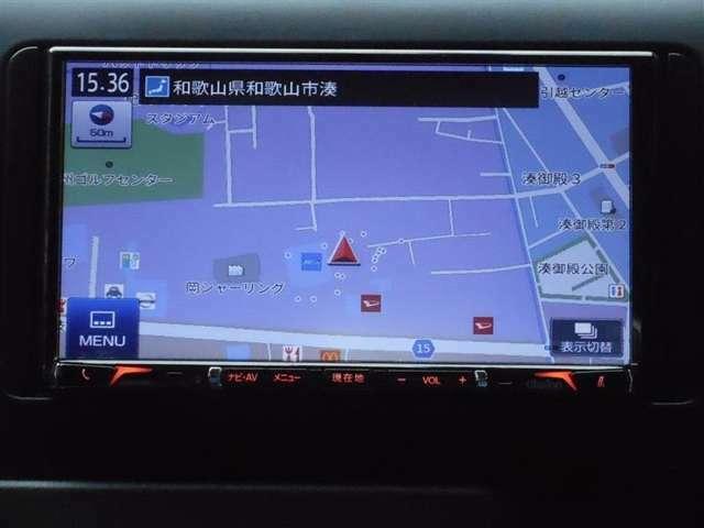【ナビ】 ナビ装着車で知らない道もラクラク