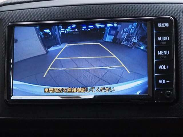 バックモニターです。車庫入れなどサポートしてくれます!