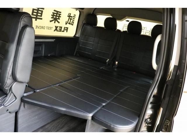 フルフラットにアレンジすれば車中泊も!ベッドマットはすべて収納可能です!!