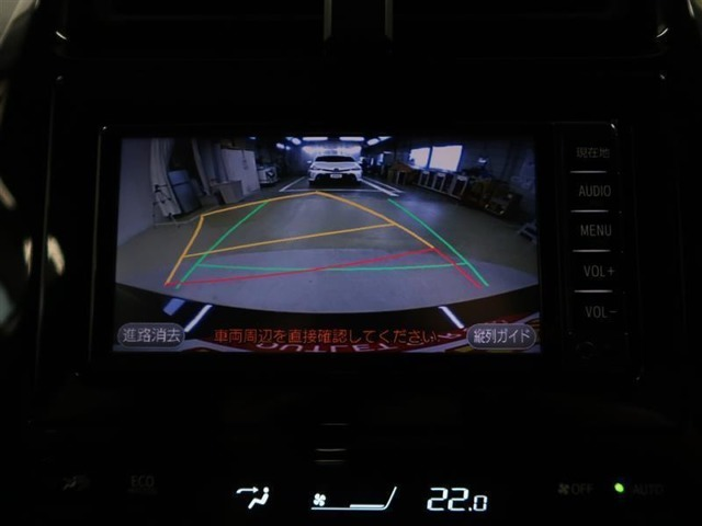バックガイドモニター付 後退時画面にステアリング連動イエローガイド線にて後退方向を表示 うっかりミスも減りますね