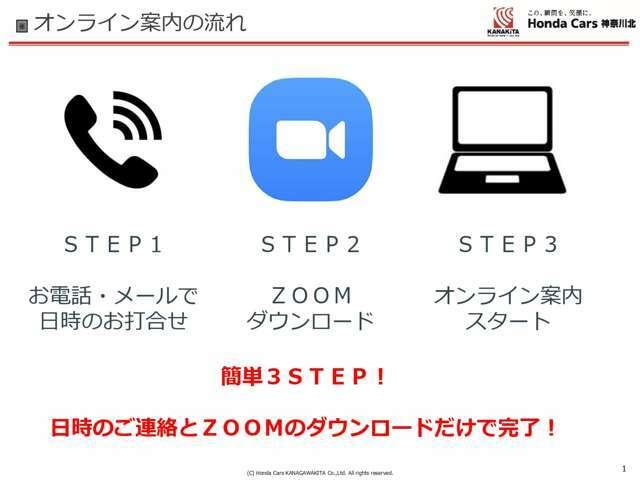 ZOOM商談承っております!ご自宅からでも、カメラを使用して実車確認、お見積もり可能です。