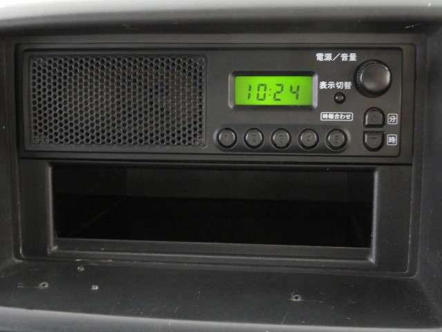 ラジオ付。