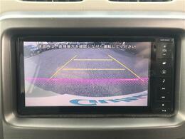 【バックモニター】ナビ画面で後方との距離を把握でき、駐車が苦手な方にもおすすめです!(大きな車両ですが)色分けされたガイド線もあるのでより安心ですね!