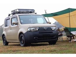 日産 キューブ 1.5 15X FOUR Mセレクション 4WD 新品ルーフラック 新品MTタイヤ キャンプ