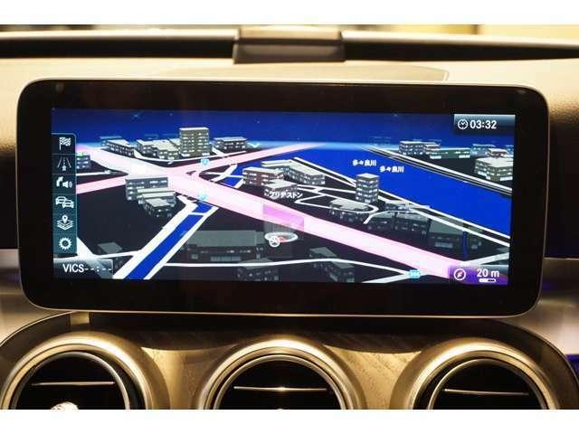 見やすく使いやすいナビゲーションでBluetooth接続機能でハンズフリー通話が可能です。