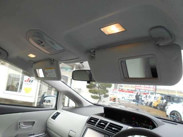 運転席&助手席照明付きバニティミラー