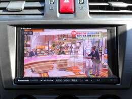 テレビは画質の良いフルセグTV♪走行中のご視聴もOK!