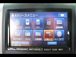 アルパイン8型HDDナビを装備★フルセグ、ブルートゥース、DVD再生も可能です★