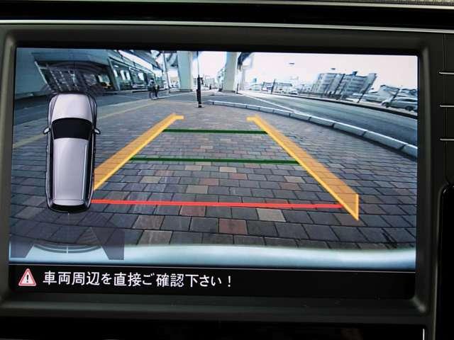 ガイドライン付きバックカメラを装備しております。カメラの映像だけでなく、イラストで後方障害物との距離も表示されますので、駐車時も安心です。
