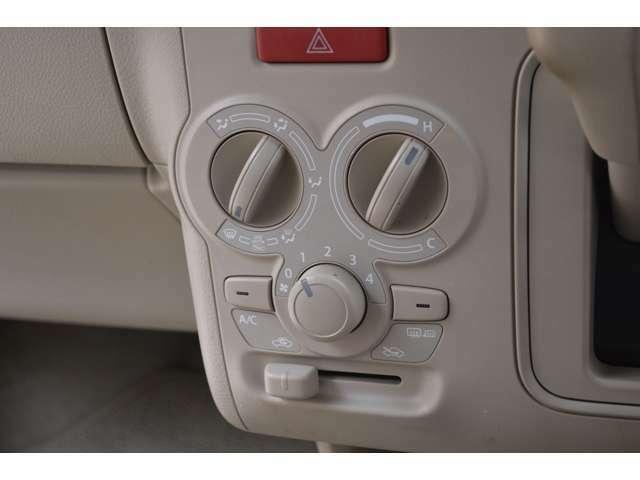 抗菌処理タイプ/エアフィルター付マニュアルエアコンです