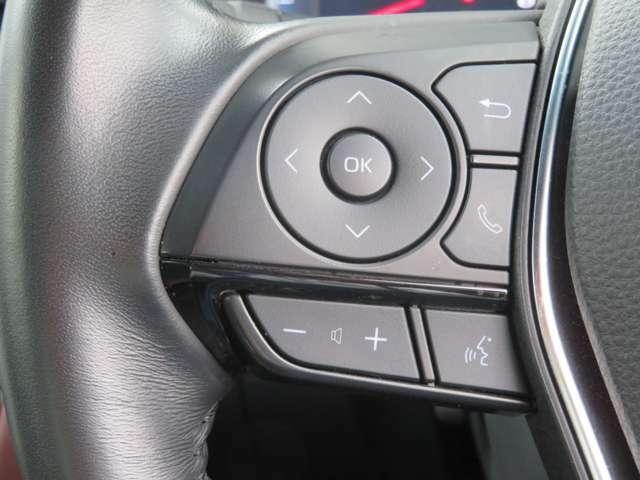 ステアリングスイッチがナビと連動していて走行中も操作しやすいです。