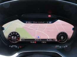 メーカーナビ♪ MMIナビケーションシステム♪ 運転席メーター内にナビ&オーディオが搭載されております♪