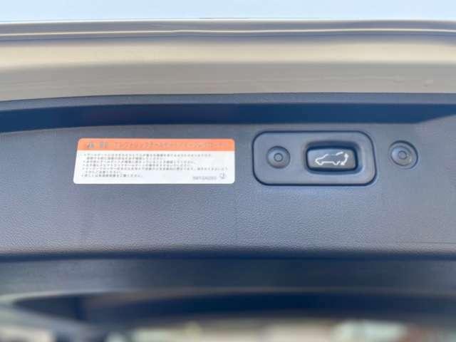 重たいバックドアをボタン一つで開閉できる、エレクトリックテールゲート・イージークローザー付きです。