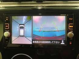 上から見下ろした様な視点で駐車確認~アラウンドビューモニター!