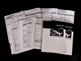 新車保証書メンテナンスノート完備!!大切に保管されていることからもこれまでのオーナー様の扱いの良さを感じるポイントです。整備内容も確認しご案内させて頂きますのでお気軽にお申し付け下さいませ!!