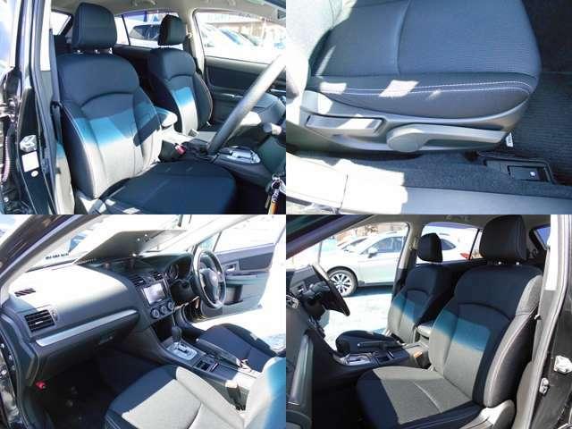 シートカラーはスポーティーなブラックです!!フロントシートはホールド感がありロングドライブでも疲れにくい設計です!!運転席にはシートリフレクター付きでお好きなポジションに設定可能です!!!