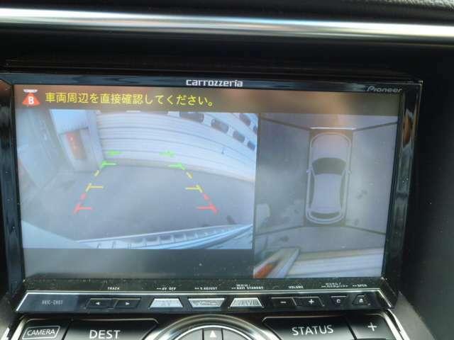 ナビつきで、画面にアラウンドビューモニターで大きい車体も安心して運転できます!!!