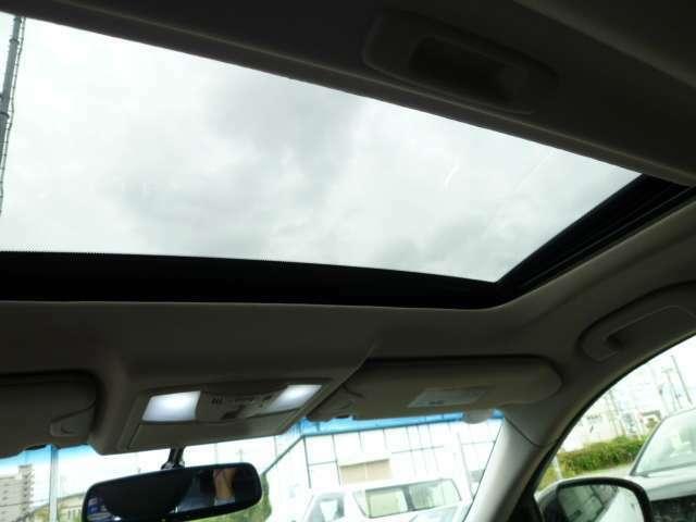 車内から見たサンルーフ画像です。