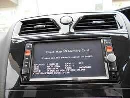 日産純正メモリーナビ フルセグTV・CD&DVD再生・USBケーブル・ブルートゥース機能が付いてます